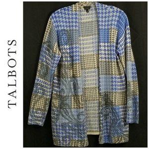 Talbots Sweater Cardigan 100% Pure Merino Wool M